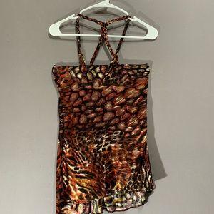 Sky strapless silk blouse size S